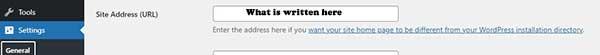 word press site address url configuration